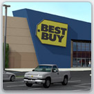 Architectural rendering of Best Buy shopping center